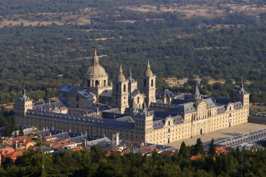 vista aerea del monasterio de el escorial