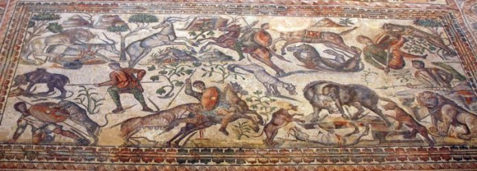 mosaico caza villaromana laolmeda e1553207932699