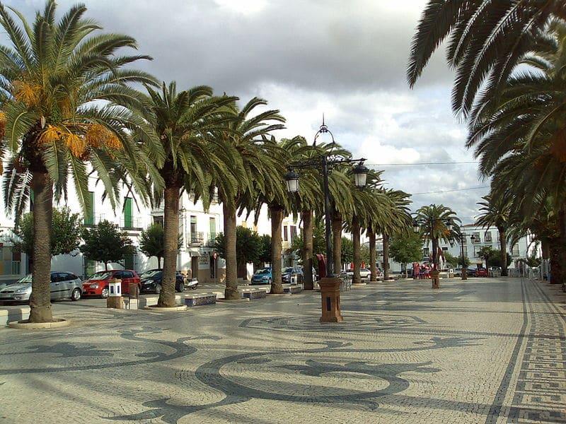 Paseo peatonal olivenza