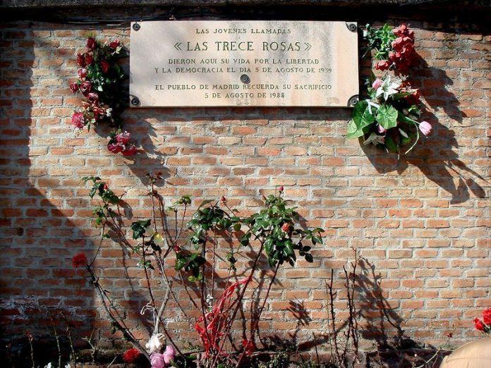 las trece rosas cementerio almudena