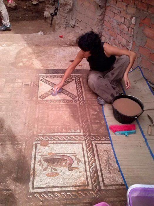mosaicos romanos alcala del rio