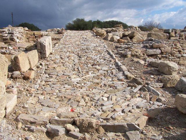 calzada romana carteia - Carteia (Cádiz)