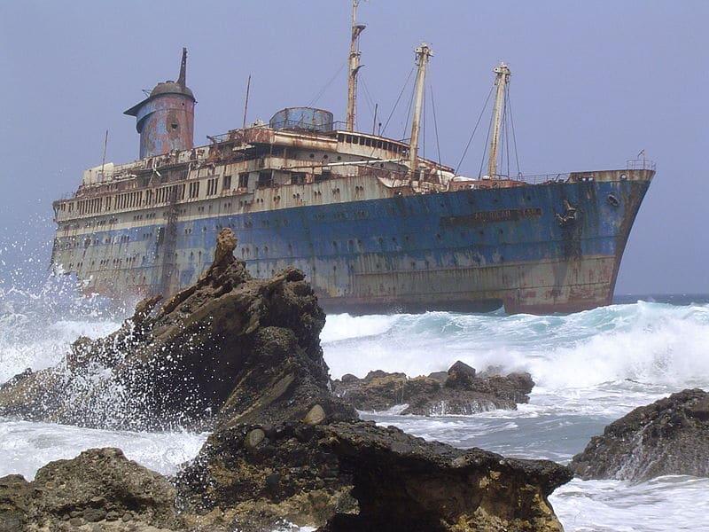 El barco fantasma de Fuerteventura (Islas Canarias)