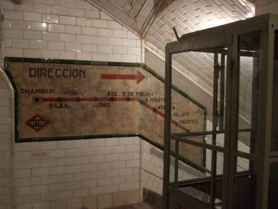 estacion metro madrid chamberi
