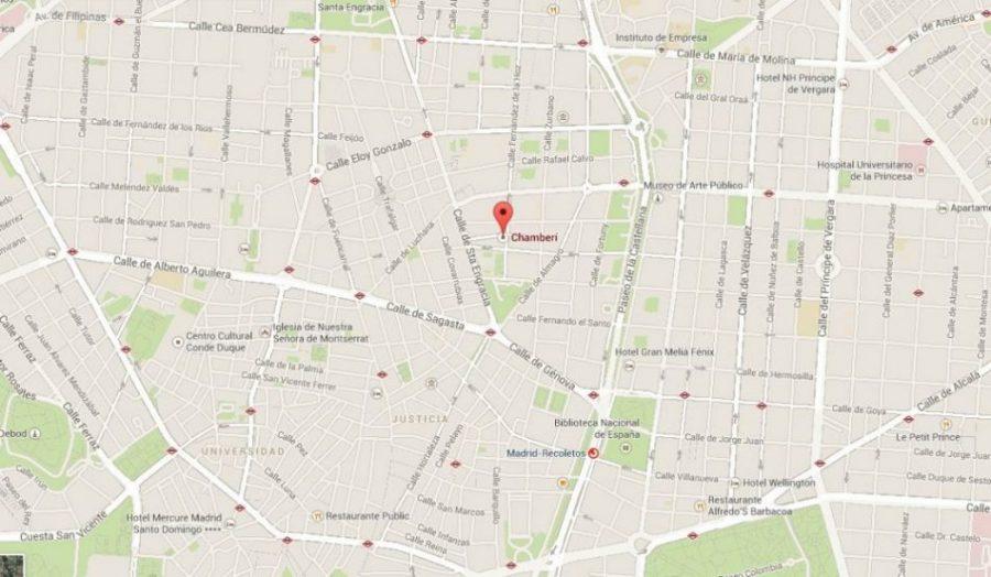 mapa CHAMBERI