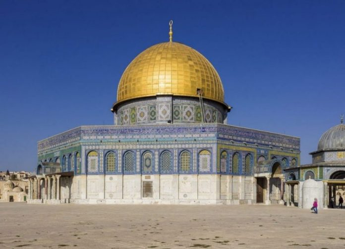 Israel 20132 Jerusalem Temple Mount Dome of the Rock SE exposure Godot13
