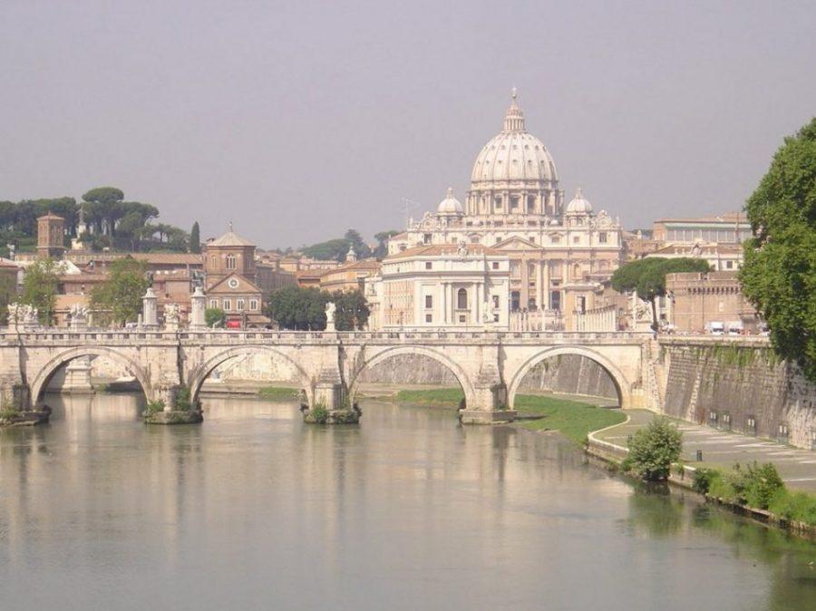 El curso del río Tíber a su paso por Roma