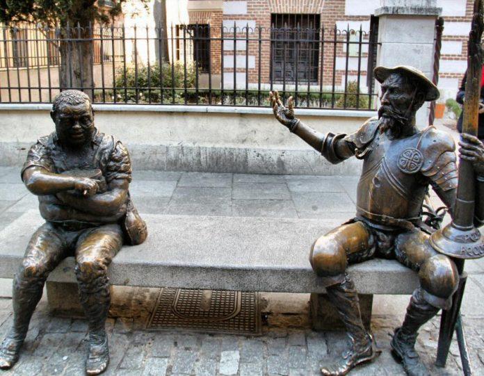 fotos madrid alcala henares monumento quijote sancho