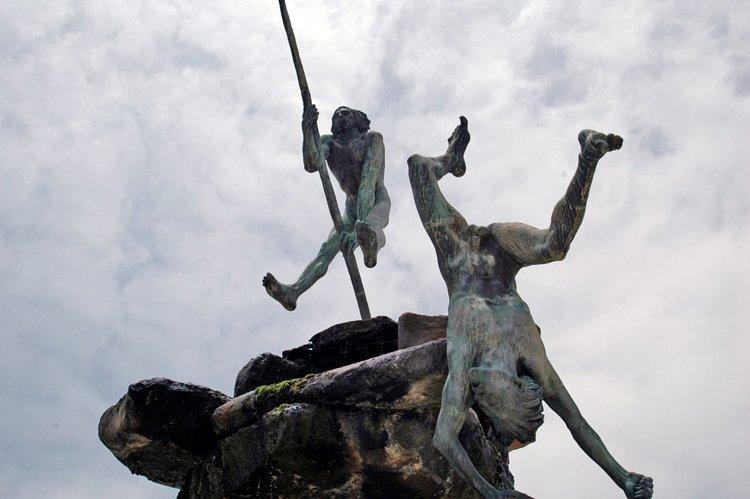 guanches escultura