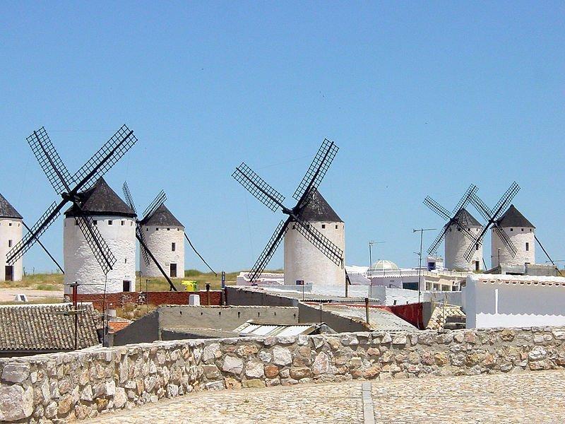 Los molinos de Campo de Criptana (Ciudad Real)
