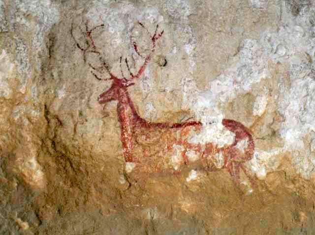 pintura rupestre guara